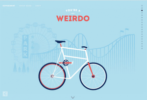 Design example of Parallax Scrolling